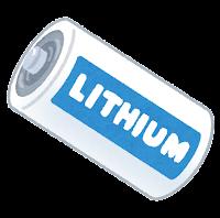 リチウム電池のイラスト