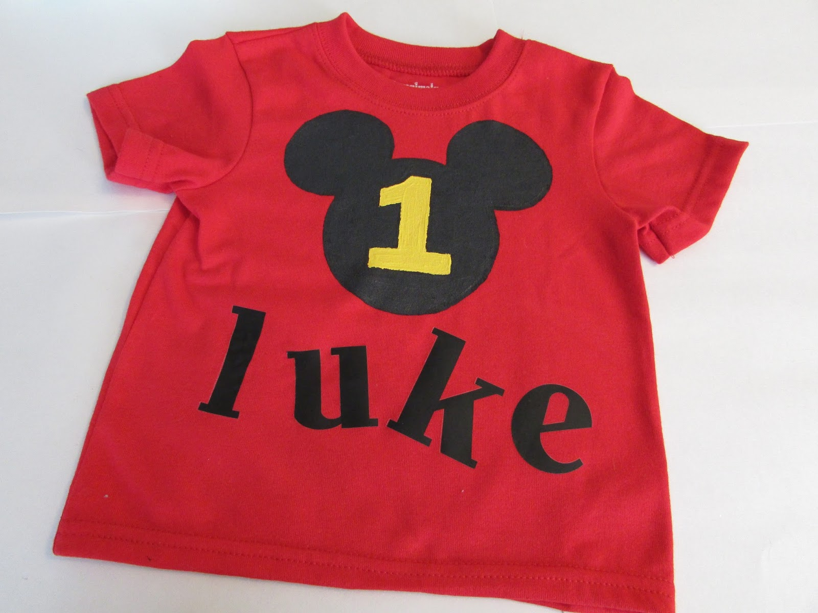 Now You Have A Sweet Personalized Shirt For Your Favorite One Year Old To Rock On Their Birthday Stay Tuned Over The Next Month Lots Of DIYs