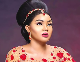 "Fans call out Mercy Aigbe beiing a cultist, after she wore a ""Black Bra Queen"" top"