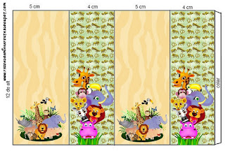 Baby Jungle Free Printable Labels.