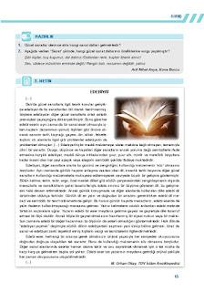 9. Sınıf Türk Dili ve Edebiyatı Ders Kitabı Cevapları Sonuç Yayınları Sayfa 15