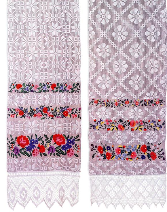 Hand embroidered towels rushniki from Belarus