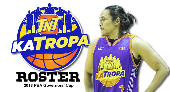 LIST: TNT Katropa Roster 2018 PBA Governors' Cup