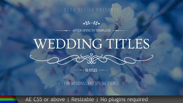 wedding titles free after effects templates