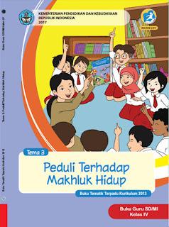 Buku Guru Tema 3 Peduli Terhadap Makhluk Hidup Kelas 4 Kurikulum 2013 Revisi 2017