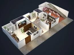 Phối cảnh tầng 1 và nhà để xe chung cư mini Đông Ngạc 8
