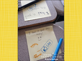 Classroom management tips for positive behavior using Post-It Notes