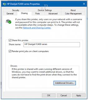 Cara sharing printer windows 10 melalui Jaringan