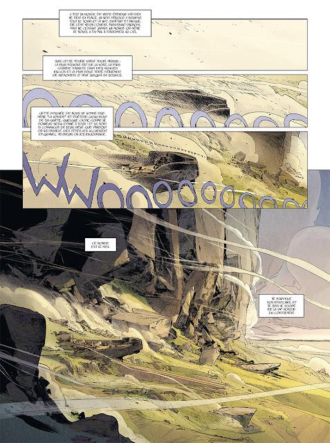 page de LA HORDE DU CONTREVENT par Eric Henninot d'après Alain Damasio