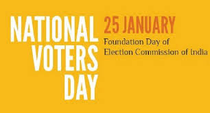National Voters' Day on 25th January
