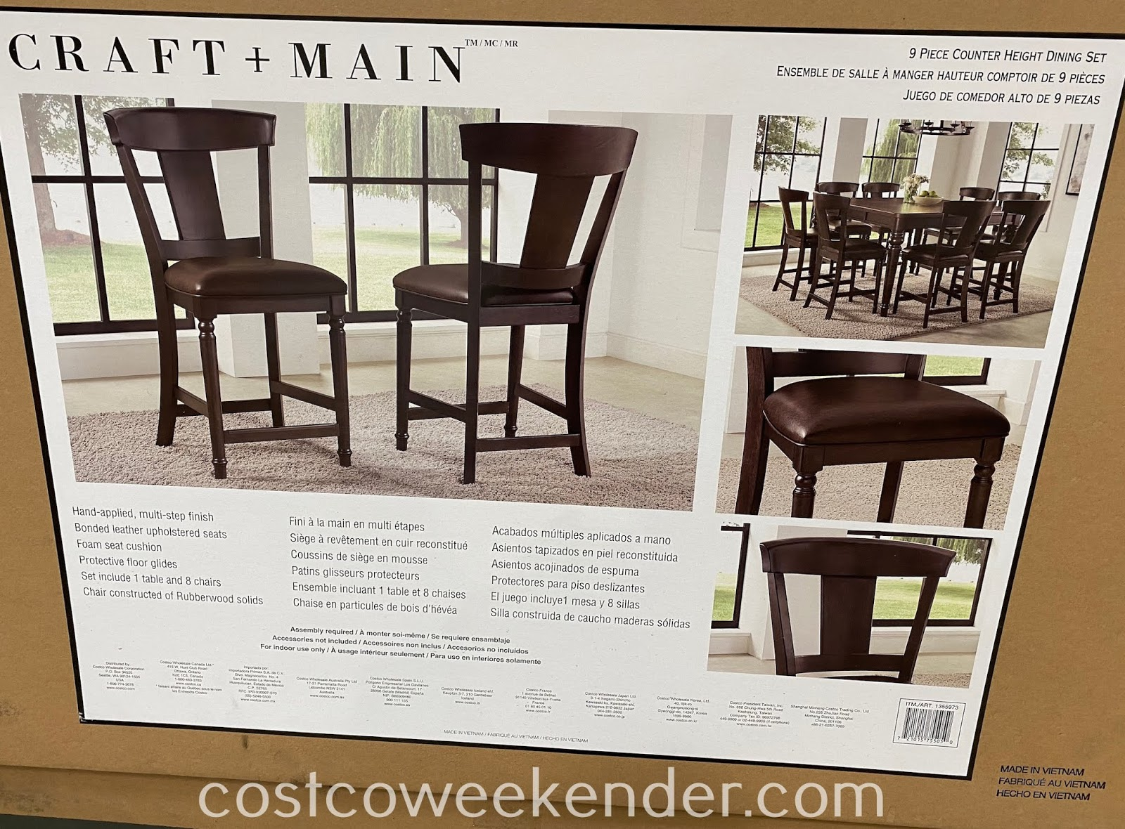 Have a nice meal with the family with the Craft + Main Counter Height Dining Set