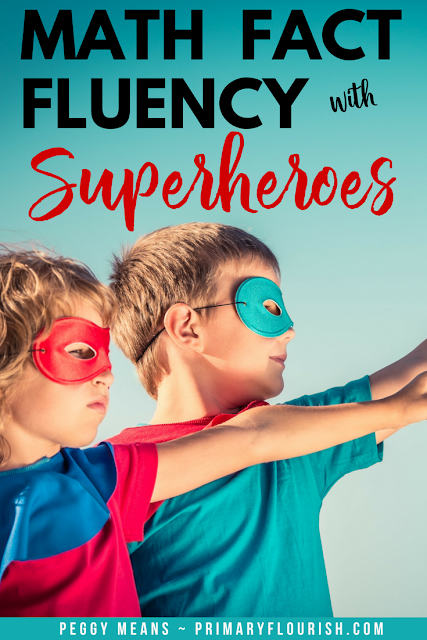 Make math practice fun with Superheroes and fact fluency addition and subtraction games.  These strategies will help promote math fact fluency as students learn the 'superpowers'- mental math strategies! Your 1st, 2nd, 3rd, and home school students will enjoy playing these engaging Superhero games with their friends and becoming more fluent in their addition math facts in the process!