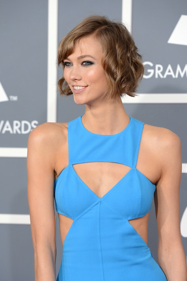 Karlie Kloss Opts For A Pool Blue Michael Kors Dress At