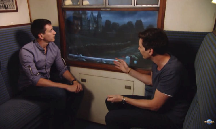 James and Oliver Phelps Rides The Hogwarts Express at Universal Orlando