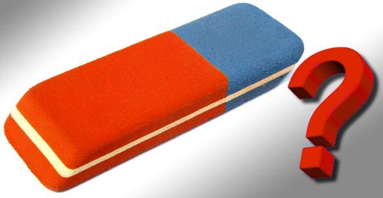 Parte azul da borracha apaga caneta - verdade ou mito?
