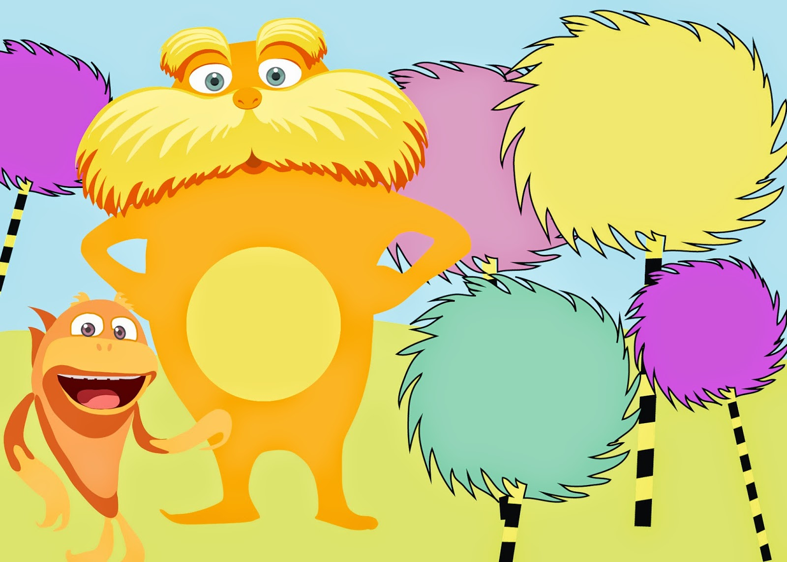 Printable Lorax Invitations