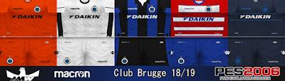 PES 6 Kits Club Brugge KV Season 2018/2019 by Ahmed Wahba