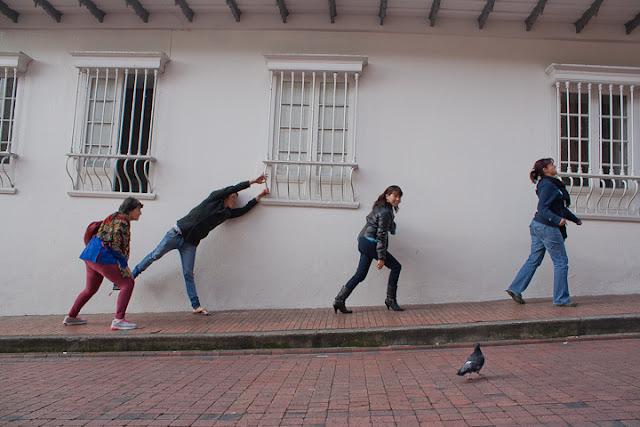 Habitantes de la Candelaria Bogota