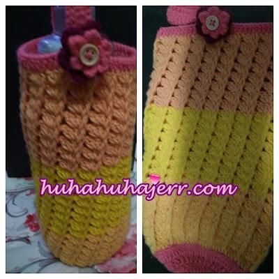 Mengait Crochet Sarung Botol Air
