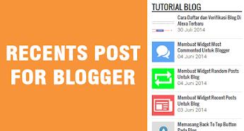 Membuat Widget Recent Posts By Tag Untuk Blogger
