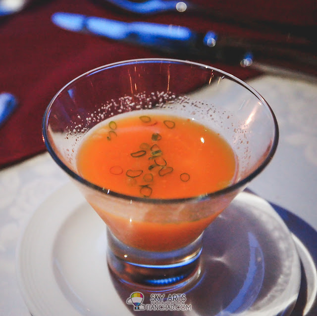Carrot and orange cold soup