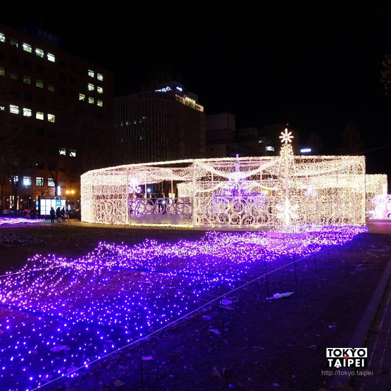 【札幌白色燈樹】整座大通公園被燈泡點亮 8個街區有不同浪漫繽紛主題
