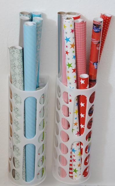 Ikea Tütensammler für Geschenkpapierrollen