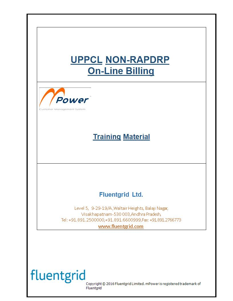 UPPCL NON-RAPDRP On-Line Billing Training Manual (Fluentgrid