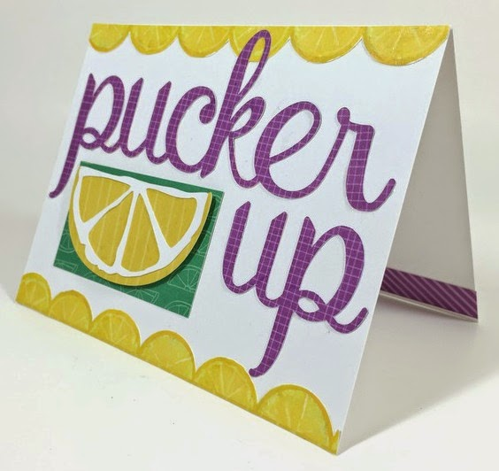 Cricut Pucker Up card sideview