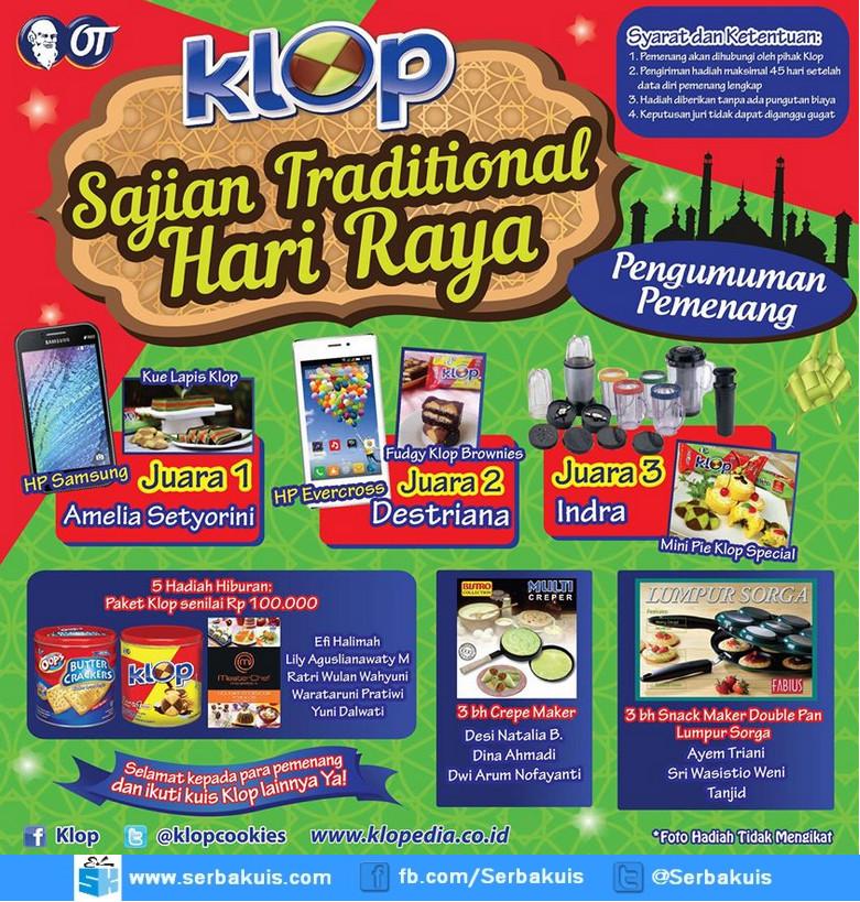 Pemenang KLOP Sajian Traditional Hari Raya
