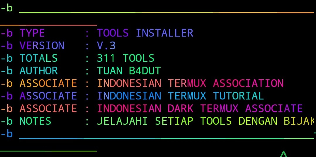TOOLS INSTALLER - Collection of 311 tools in termux | Vabs