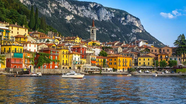 Vista de parte da cidade de Como na Itália