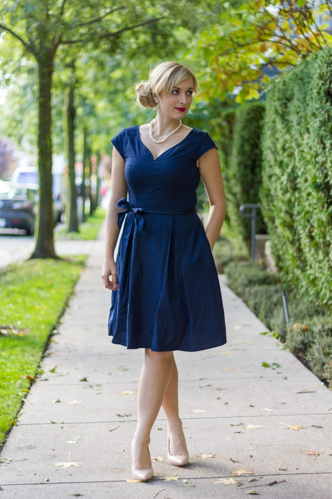 navy-cotton-mid-length-dress