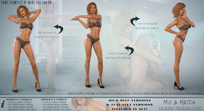 Z Eleganza - Poses and Partials for Genesis 3 and 8 Female