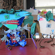 This week families made Dancing Creatures!