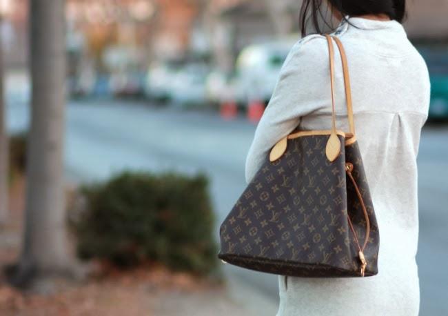 30d724527b7 louis vuitton neverfull mm monogram handbag bag purse
