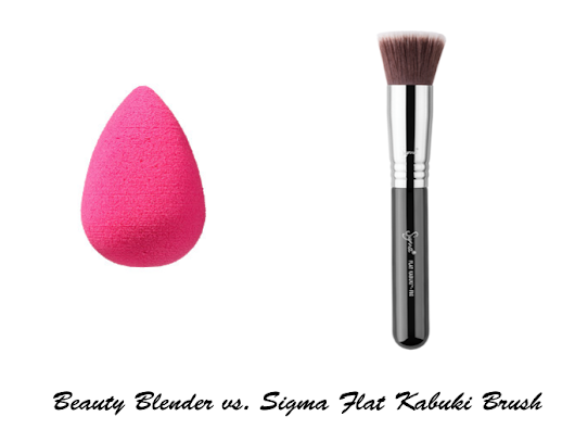 Beauty Blender vs. Sigma Flat Kabuki Brush