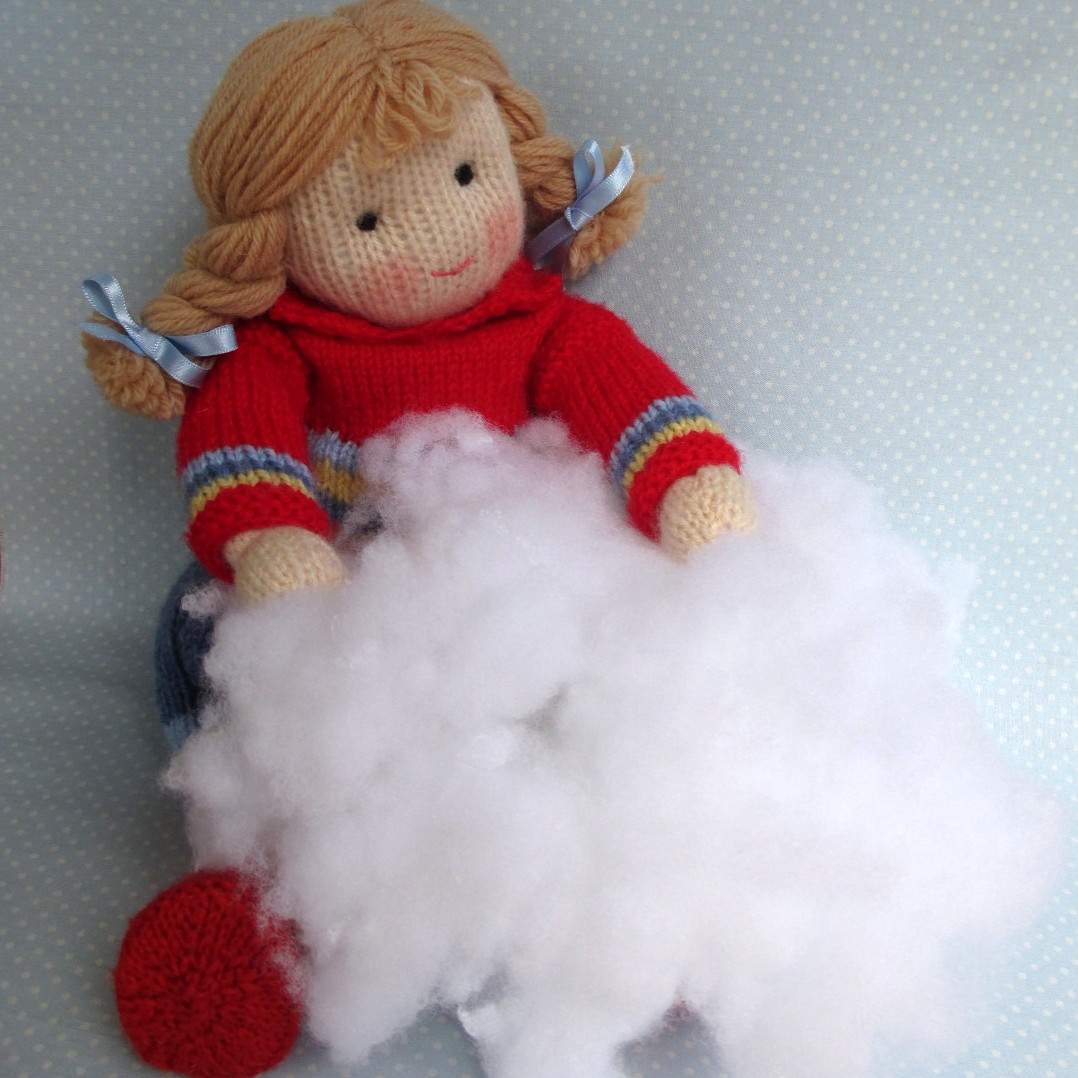 Knitting Dolls : Flutterby patch knitted doll making tips