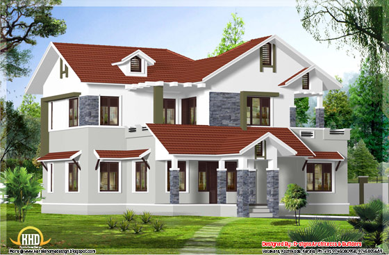 2200 square feet 4 bedroom house design - May 2012