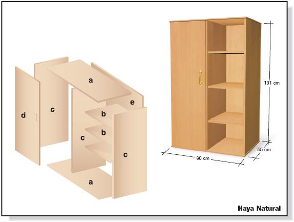 Brico diy como hacer un ropero de melamina madera y mdf for Muebles de cocina planos pdf