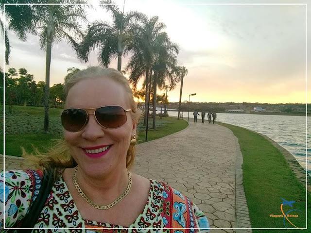 Pôr do sol no Pontão, em Brasília
