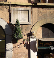 A plaque marks the birthplace of  Pimentel in Campo Marzio in Rome