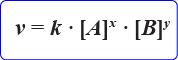 Rumus umum persamaan Laju reaksi