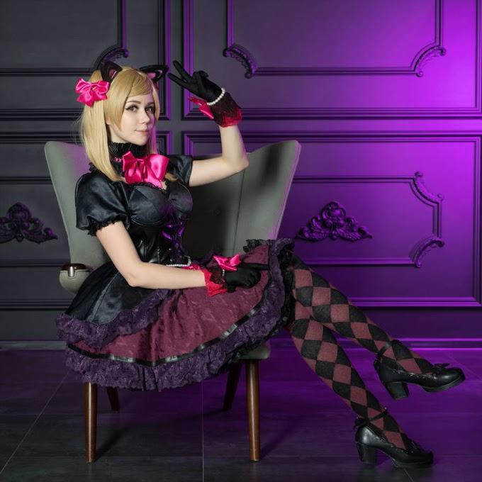 Anastasia Komori con su cosplay de Black Cat D.va