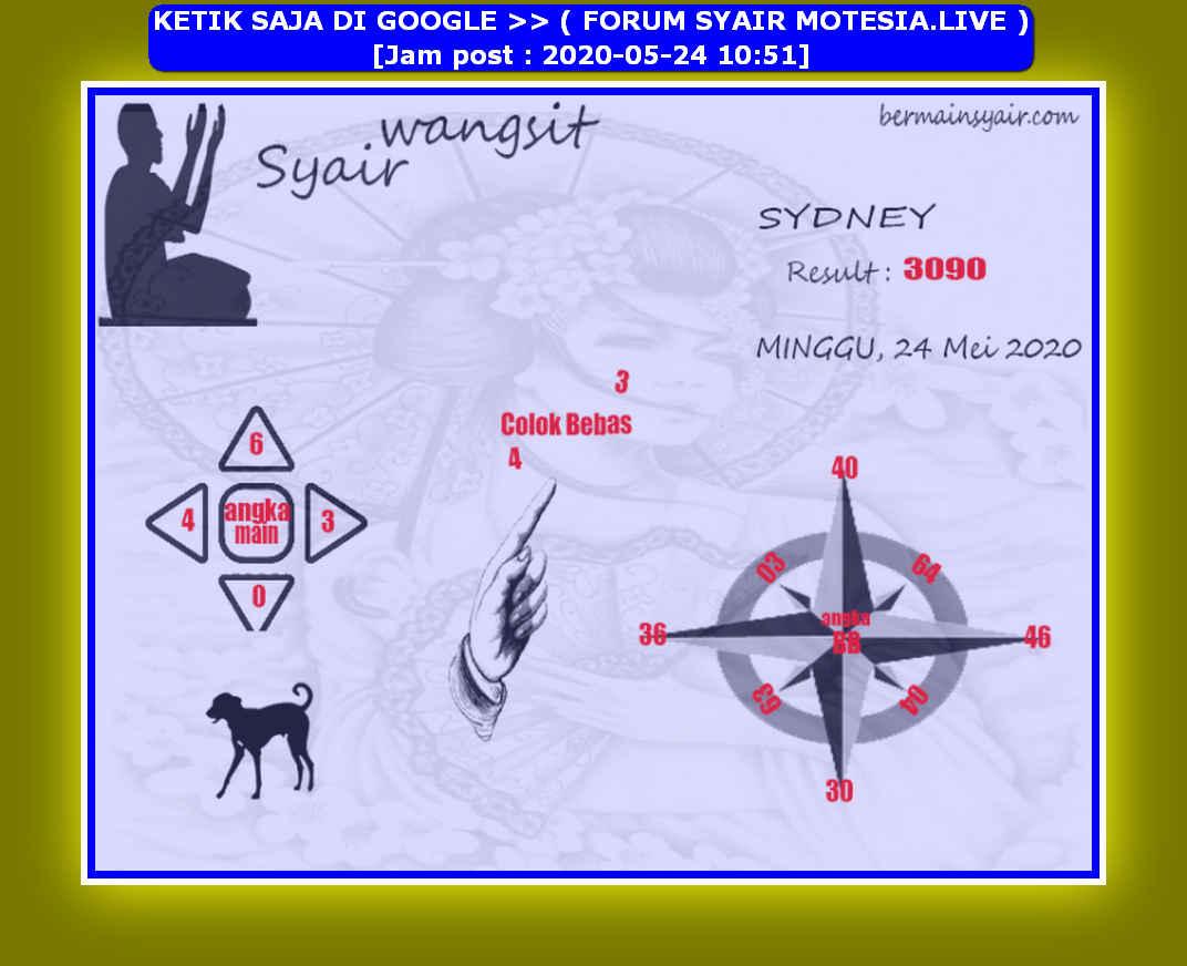 Kode syair Sydney Minggu 24 Mei 2020 183