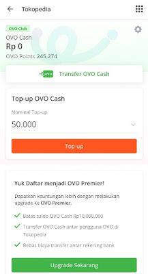 Beli OVO di Tokopedia, Dapat Cashback!