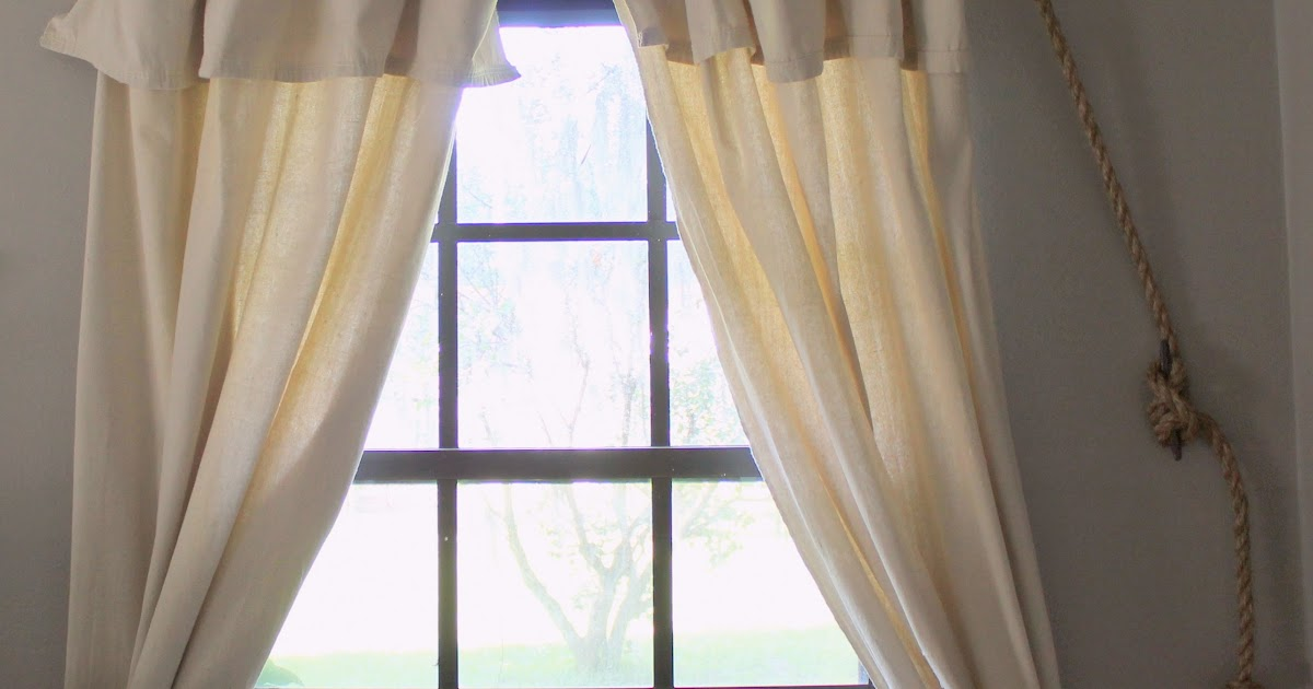 Vintage Home Love Rope Curtain Rod And Diy Curtains