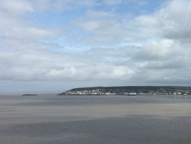 Bream-Down-Fort-view-of-Weston-Super-Mare-across-mouth-of-River-Axe