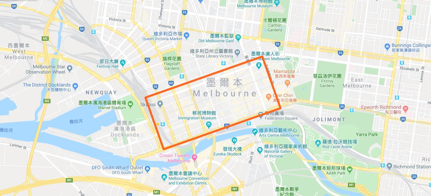 Melbourne-Accommodation-Recommendation-Map-Hotel-Apartment-Bed and Breakfast-Hostel