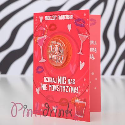 Kartka z przypinką - idealny prezent dla Panny Młodej